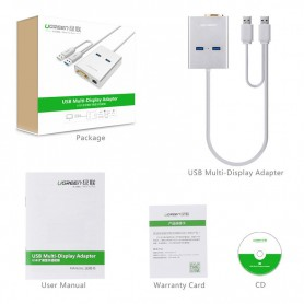 UGREEN, USB 3.0 Multi-Display Graphic Card 1000 Gigabit Ethernet UG161, Netwerk adapters, UG161, EtronixCenter.com