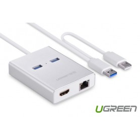 UGREEN, USB 3.0 Multi-Display HDMI HDTV 1000 Gigabit Ethernet UG162, Netwerk adapters, UG162, EtronixCenter.com