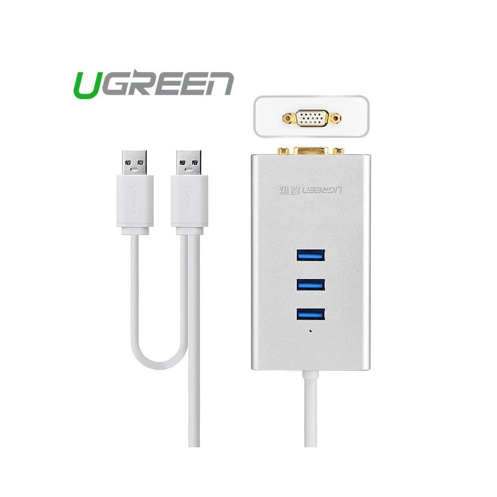 UGREEN - USB 3.0 to VGA Multi-Display Adapter Hub High Premium UG163 - Adaptoare VGA - UG163 www.NedRo.ro