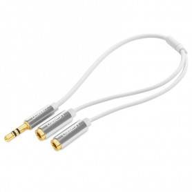 UGREEN - Premium 3.5mm Aux Stereo Audio Splitter Cable Alumnium UG173 - Audio kabels - UG173 www.NedRo.nl