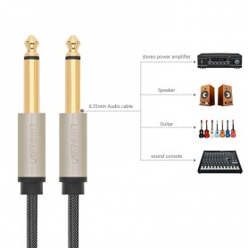 UGREEN - 6.5mm Jack to Jack male to male Audio Cable - Audio cables - UG184-CB www.NedRo.us
