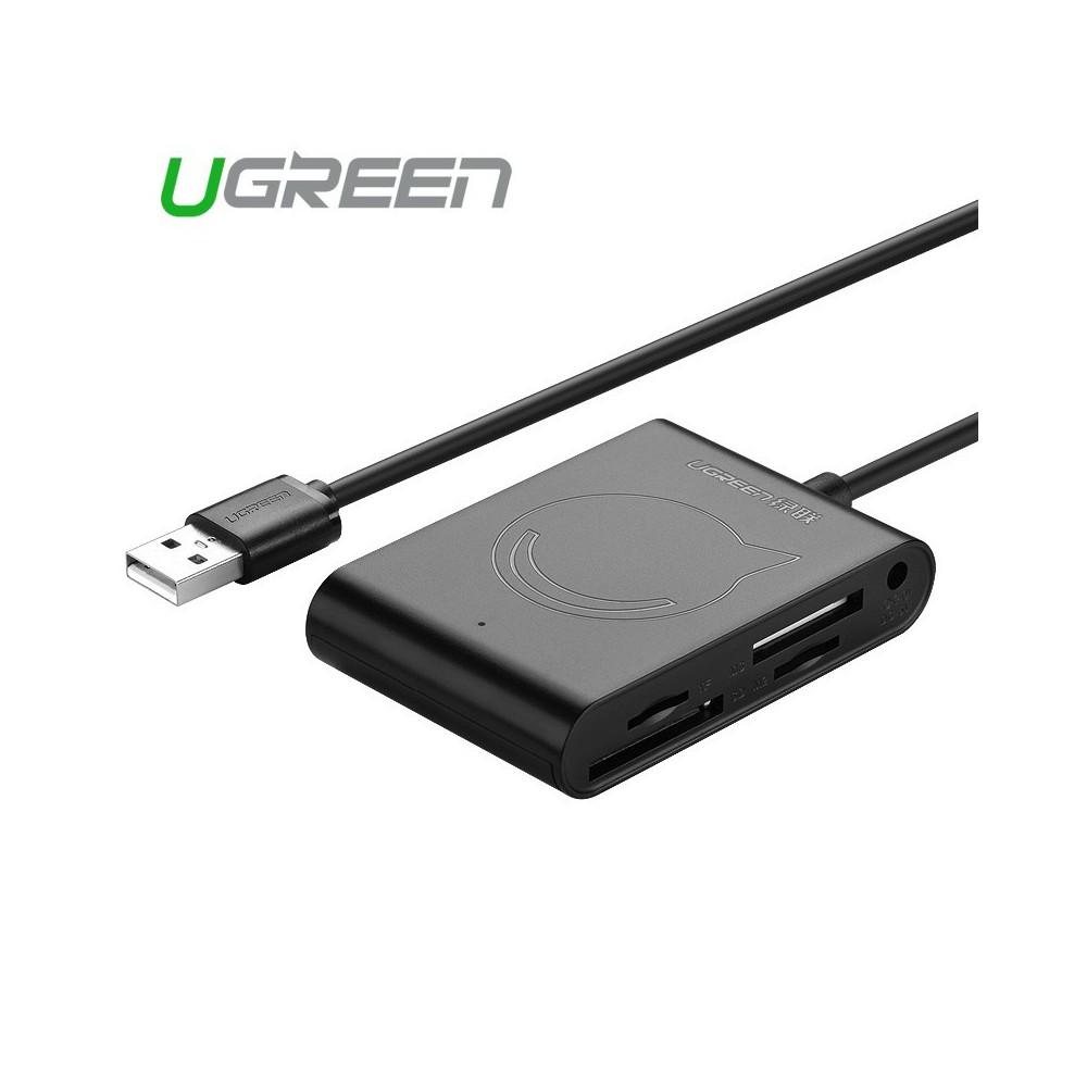 UGREEN - All in 1 USB 2.0 Card Reader SD/TF/M2/MS 3Port USB UG197 - Memorie SD si USB - UG197 www.NedRo.ro
