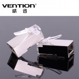 Vention - 10x Vention CAT6 RJ45 Plug 8P8C Modular Network Plug AL456 - Netwerk adapters - AL456 www.NedRo.nl