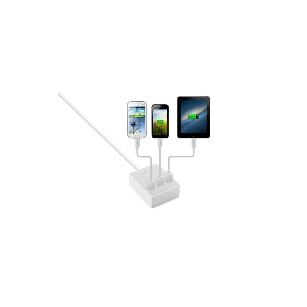 UGREEN - 3 Port USB Charging Station Hub White EU Plug UG216 - Ports and hubs - UG216 www.NedRo.de