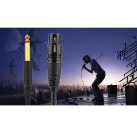 UGREEN - Cablu Audio Cannon XLR Mamă la Tată de 6.35mm - Cabluri audio - UG232 www.NedRo.ro