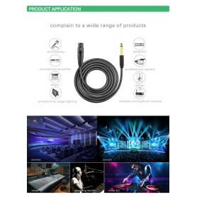 UGREEN - Cannon XLR Female naar 6.35mm Audio Male kabel - Audio kabels - UG225-CB www.NedRo.nl