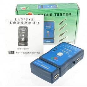 Kabel Cable Tester LAN USB A/A A/B RJ45 RJ11 RJ12 YNK001