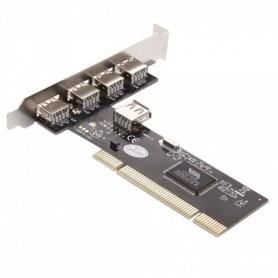 NedRo - 32-Bit PCI-binnenpoort 4-poorts USB2.0-kaart - Interface adapters - WW81011766 www.NedRo.nl