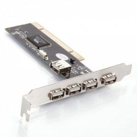NedRo - 32-Bit PCI-binnenpoort 4-poorts USB 2.0 kaart - Interface adapters - WW81011766 www.NedRo.nl
