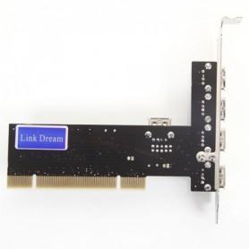NedRo, 32-Bit PCI Inner Interface 4-Port USB2.0 Card WW81011766, Adaptoare de interfață, WW81011766, EtronixCenter.com