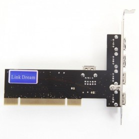 NedRo - 32-Bit PCI Inner Interface 4-Port USB2.0 Card WW81011766 - Interface adapters - WW81011766 www.NedRo.us