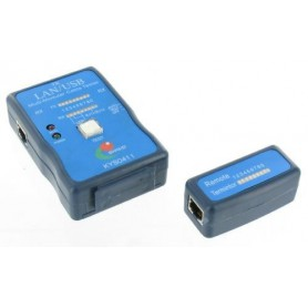 NedRo, Kabel Cable Tester LAN USB A/A A/B RJ45 RJ11 RJ12, Netwerkgereedschap, YNK001, EtronixCenter.com