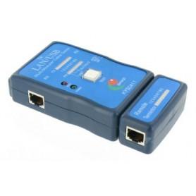 NedRo - Kabel Cable Tester LAN USB A/A A/B RJ45 RJ11 RJ12 YNK001 - Netwerkgereedschap - YNK001-C www.NedRo.nl