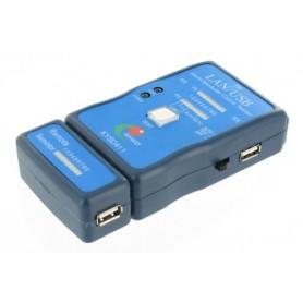 NedRo - Kabel Cable Tester LAN USB A/A A/B RJ45 RJ11 RJ12 - Netwerkgereedschap - YNK001-C www.NedRo.nl