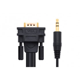 UGREEN, VGA HD15 M/M with 3.5mm Stereo Audio Cable, VGA cables, UG238-CB, EtronixCenter.com