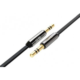 UGREEN - 3.5mm Male-Male Audio Jack Ultra Flat cable Black - Audio cables - UG250-CB www.NedRo.us