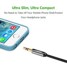 UGREEN - Cablu Audio cu jack de 3.5mm Tată-Tată Ultra Flat Negru - Cabluri audio - UG250-CB www.NedRo.ro