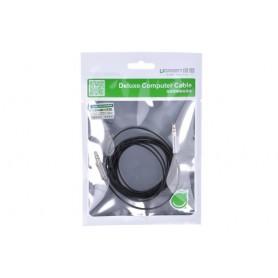 UGREEN - 3.5mm Male-Male Audio Jack Ultra Plat kabel Zwart - Audio kabels - UG250-CB www.NedRo.nl