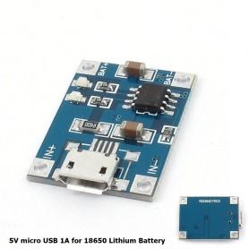 NedRo - 5V Micro USB 1A 18650 Battery Charging Board Module - Diverse - AL887-1x www.NedRo.ro