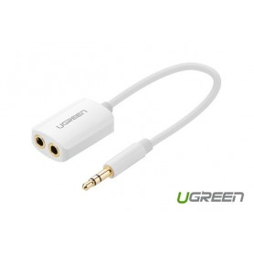 UGREEN - Premium 3.5mm Male to 3.5mm Female x 2 Stereo Cable UG277 - Audio adapters - UG277 www.NedRo.us