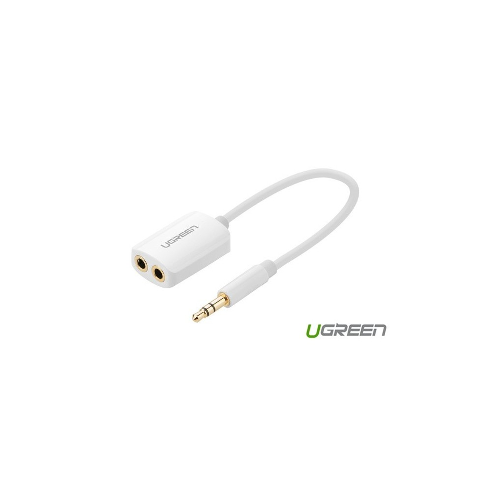 UGREEN - Premium 3.5mm Male to 3.5mm Female x 2 Stereo Cable UG277 - Audio adapters - UG277 www.NedRo.de