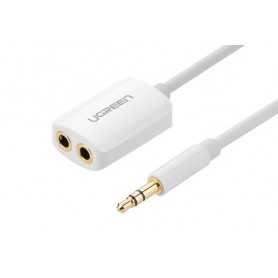 UGREEN - Premium 3.5mm Male to 3.5mm Female x 2 Stereo Cable UG277 - Audio adapters - UG277 www.NedRo.nl