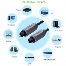UGREEN - UGREEN Toslink Optical Audio Professional Cable Grey - Cabluri audio - UG308 www.NedRo.ro