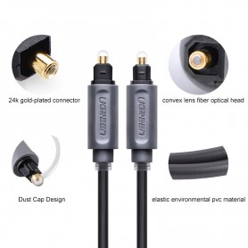 UGREEN - UGREEN Toslink Optical Audio Professional Cable Grey - Audio cables - UG308-CB www.NedRo.us