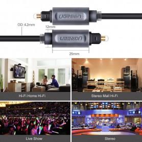 UGREEN - UGREEN Toslink Optical Audio Professional-kabel grijs - Audio kabels - UG308 www.NedRo.nl