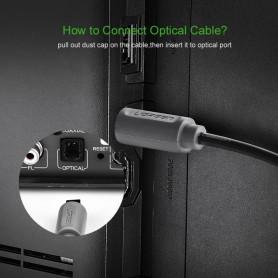 UGREEN - UGREEN Toslink Optical Audio Professional-kabel grijs - Audio kabels - UG308-CB www.NedRo.nl