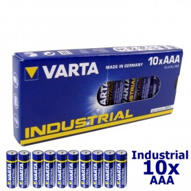 Varta - Baterie Varta Industrial alkaline LR03 AAA 4003 - AAA formaat - NK168-10x www.NedRo.nl