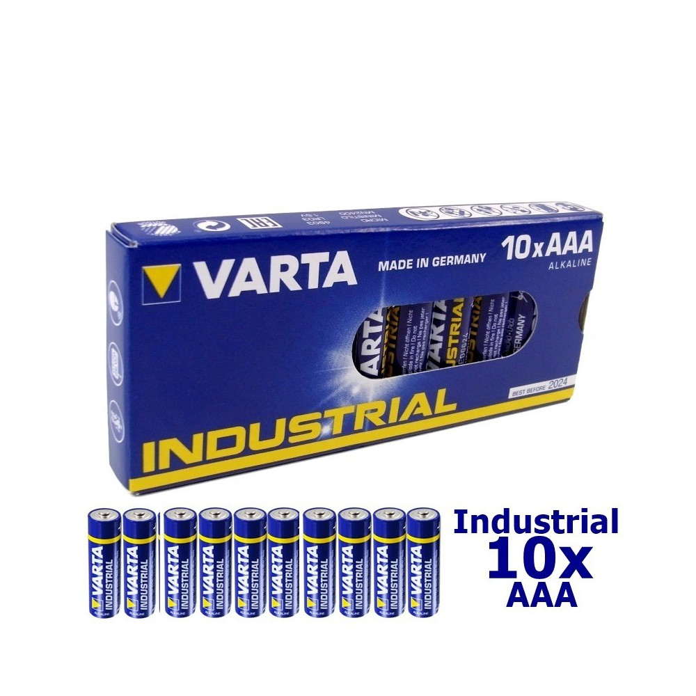 10-Pack LR03 AAA 4003 Varta Industrial alkaline NK168