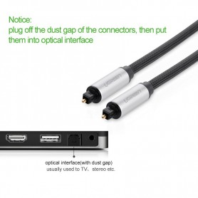 UGREEN - Toslink Optical Audio Professional Cable Aluminum Case - Audio cables - UG319-CB www.NedRo.us