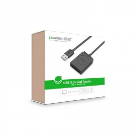 UGREEN - USB 3.0 All-in-One Card Reader up to 5Gbps 256G. SD/Micro - SD and USB Memory - UG325