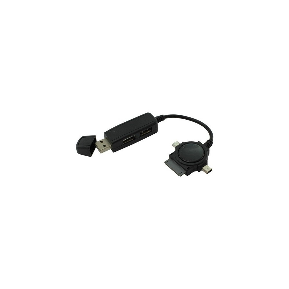 Duo USB Hub met Micro USB Mini USB Dock