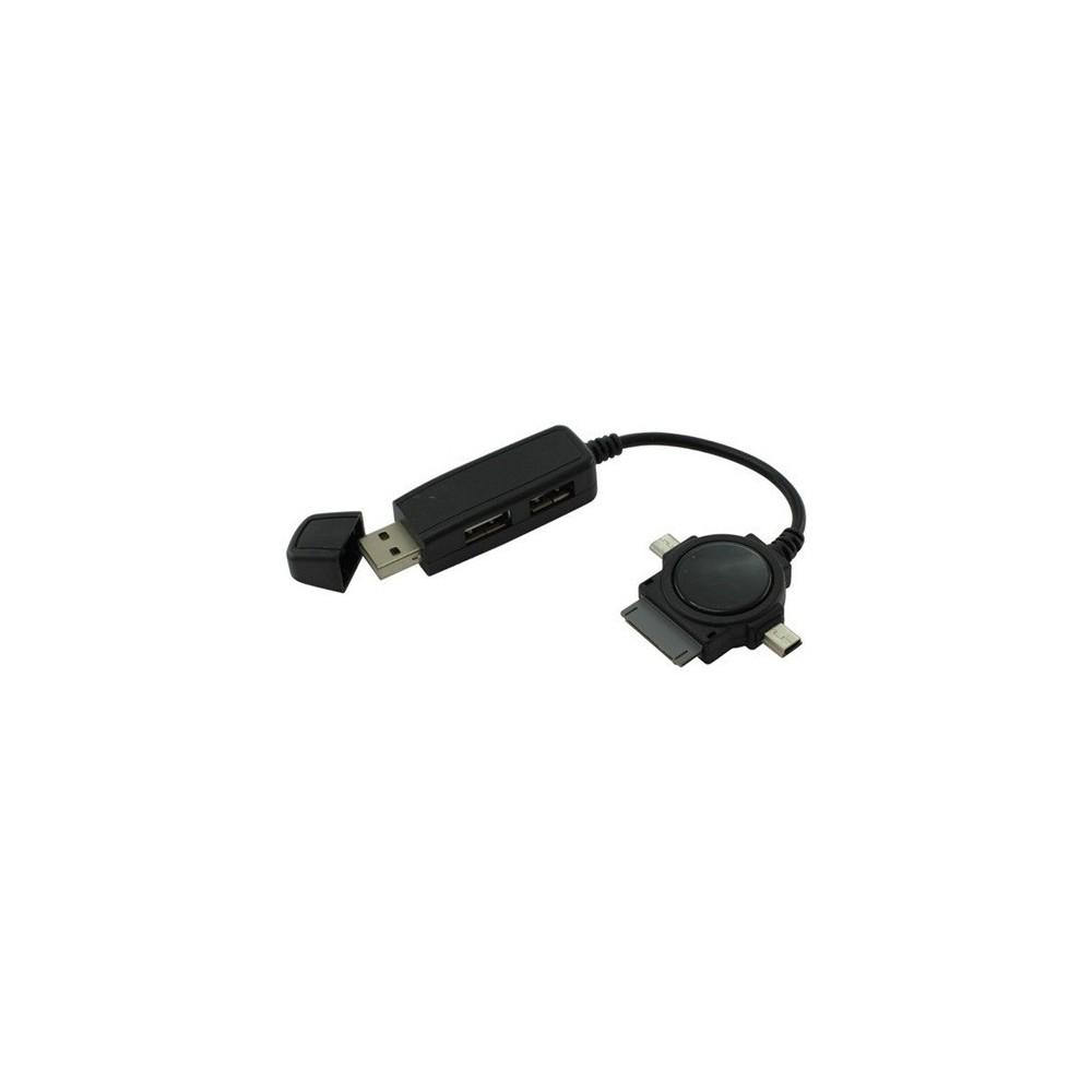 NedRo - Duo USB Hub met Micro USB Mini USB Dock - Ports en Hubs - ON086 www.NedRo.nl