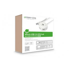 UGREEN, USB 2.0 Hub 4 Ports with OTG Function, Ports en Hubs, UG353-CB, EtronixCenter.com