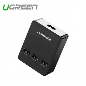 UGREEN, 3 Port USB Charging Station Hub 5V - 4A Black UG357, Ports en Hubs, UG357, EtronixCenter.com
