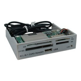 NedRo, ALLin1 3,5 Grey Panel Cardreader YPP006, DVD CDR en Readers, YPP006, EtronixCenter.com