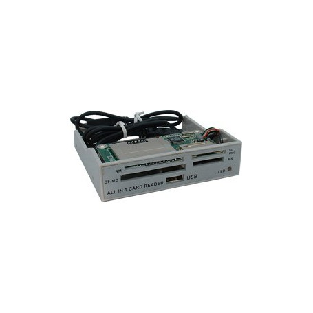 Oem - ALLin1 3,5 Grey Panel Cardreader YPP006 - DVD CDR and readers - YPP006