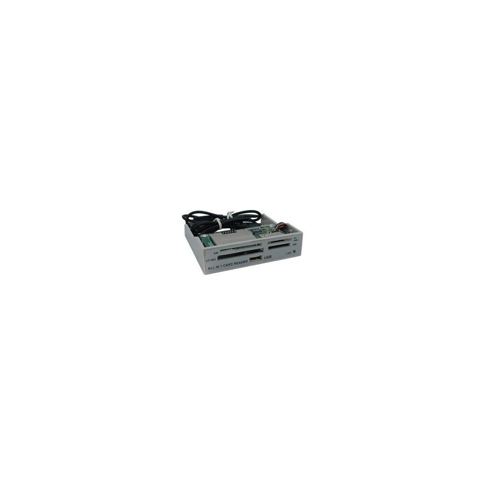 NedRo - ALLin1 3,5 Grey Panel Cardreader YPP006 - DVD CDR en Readers - YPP006 www.NedRo.nl