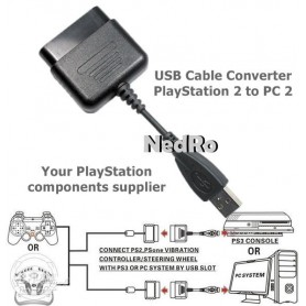 NedRo - USB kabel Converter PlayStation 1 en 2 naar PC - PlayStation 1 - YGU003 www.NedRo.nl