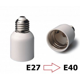NedRo - E27 naar E40 Fitting Omvormer - Lamp Fittings - LCA46-CB www.NedRo.nl