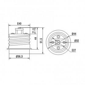 unbranded, E40 to E27 Socket Converter AL694, Light Fittings, AL694