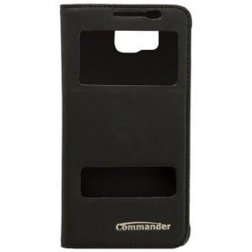 Commander - Husă telefon COMMANDER cu fereastră dublă pentru Samsung Galaxy Alpha SM-G850 - Samsung huse telefon - ON213 www....
