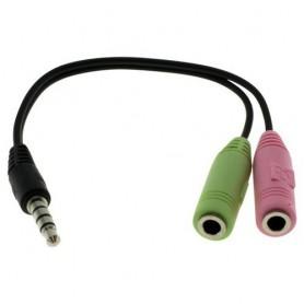 Audio kabel 2 x 3,5 mm Jack Plug naar 3.5mm Stereo Jack
