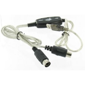Cablu MIDI, USB - MIDI Keyboard Interface Converter Cable YPU115