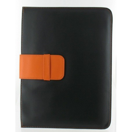 NedRo - iPad 2 en 3 v2 lederen mapje, zwart 00891 - iPad en Tablets beschermhoezen - 00891 www.NedRo.nl