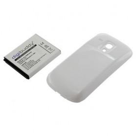 Accu compatible met Samsung Galaxy S3 mini  met wit achterkant