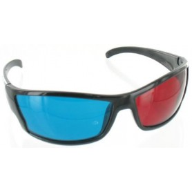 Red Cyan 3D Glasses Black YOO038
